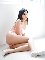Kaho Takashima Asian with big cans in white bra is sexy outdoor