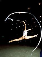 Miki Komori Asian shows grace and flexibility in gymnastics moves